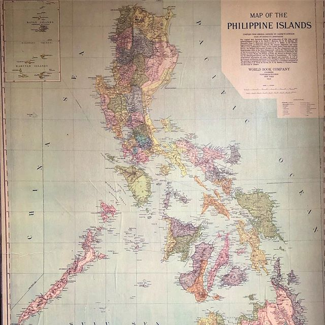 Check out this huge map of the Philippine Islands from 1908. Super detailed Archival Prints are coming soon.  #philippines  #philippineislands