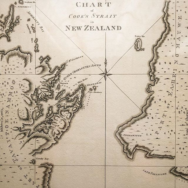 Chart of Cook's Strait in New Zealand- 1773  #newzealand  #cookstrait  #queencharlottesound