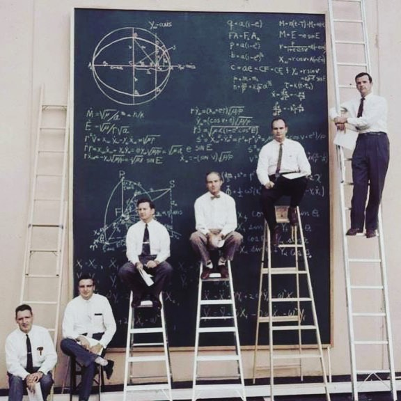 NASA before PowerPoint- 1961. #nasa #math #nerds #killinthegame  #takemetothemoon  #oldphotos