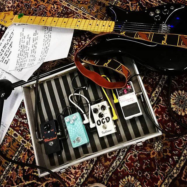 Working on new songs for the upcoming album. Entering studio in August.  #studio #album #lp #doomrock #fender #lead2