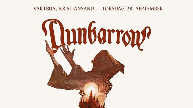 Vi kommer til Kristiansand nå på torsdag! Ta på dongeri-vesten og kom på Vaktbua 🤘🏼🔥 #vaktbua #kristiansand #dunbarrowlives #heavyrock #doom #luciferschild #doombarrow #bibelbeltet