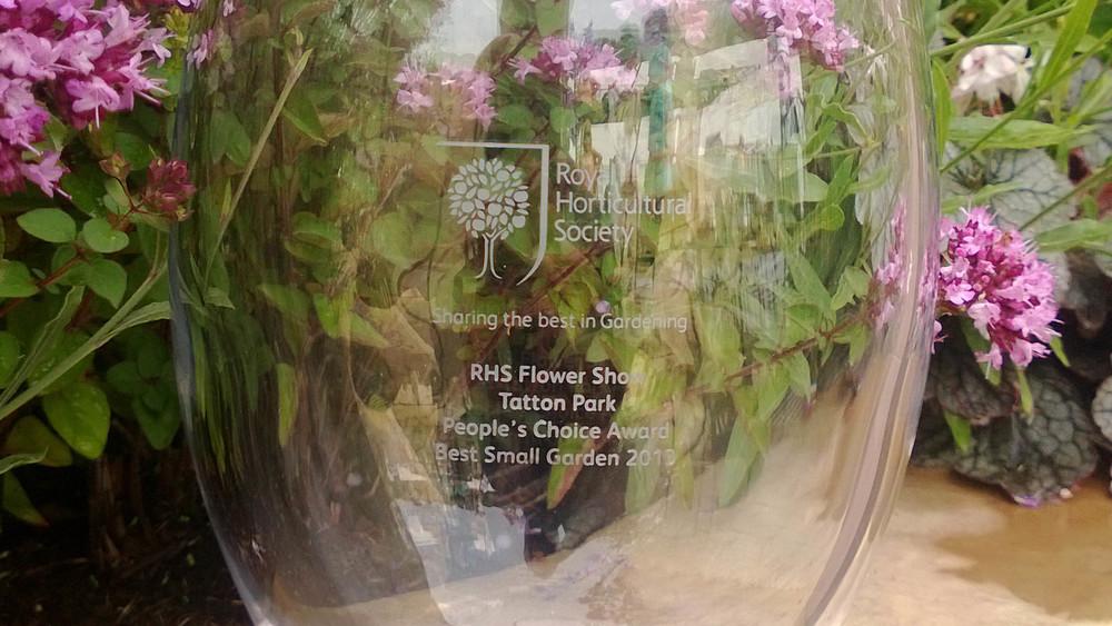 Cheshire Garden Design: RHS Tatton Flower Show 'Precious Resources Garden': People's Choice Award Vase