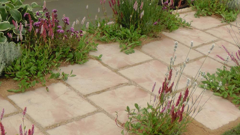 Cheshire Garden Design: RHS Tatton Flower Show 'Precious Resources Garden': Path with perennials in gravel