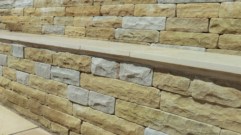 Cheshire Garden Design: Contemporary Seating: Dressed Stone Wall