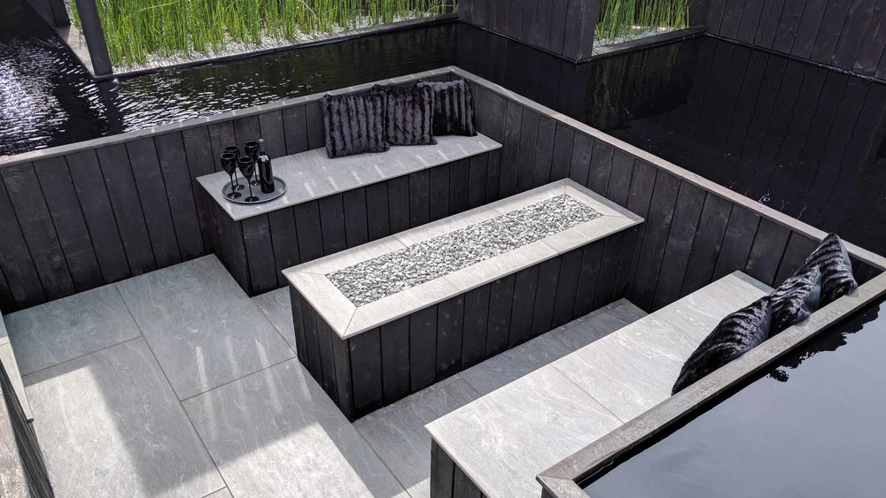 Southport Garden Design: Kuro: Seating Area