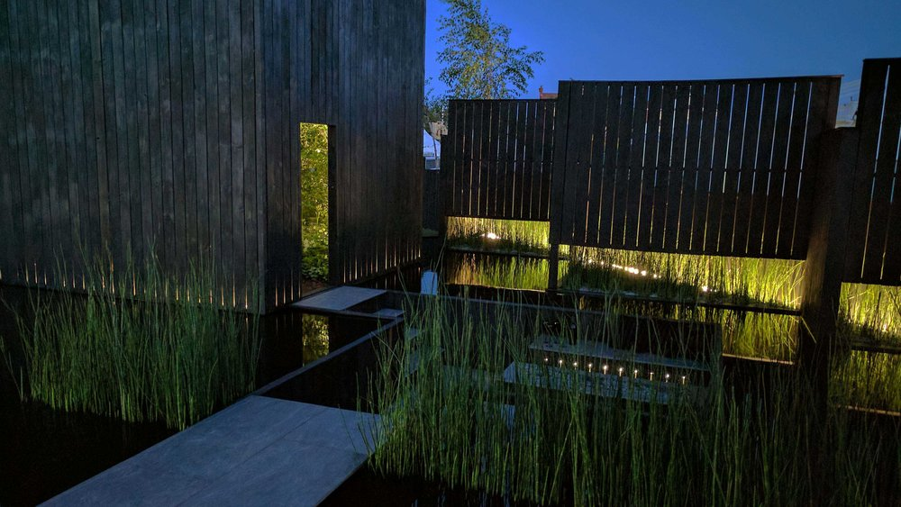 Southport Garden Design: Kuro At Night time