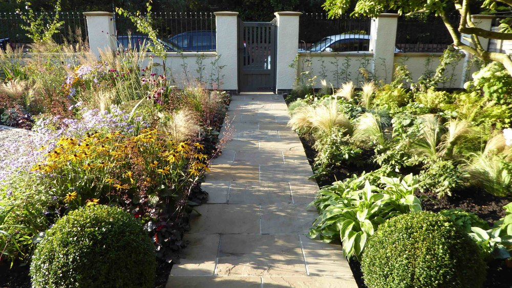 Cheshire Garden Design: The Sun and Shade Garden: Path Between Planting Areas