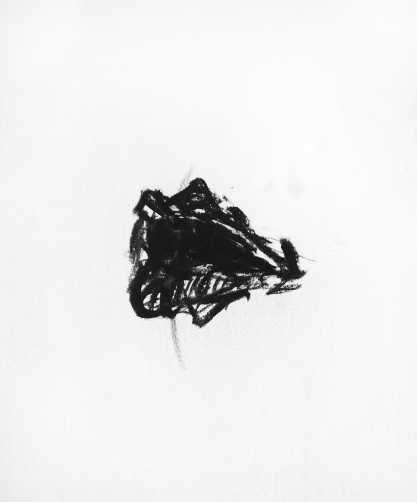 Untitled (mouth), 2012, Charcoal on paper, 12 x 9 in.