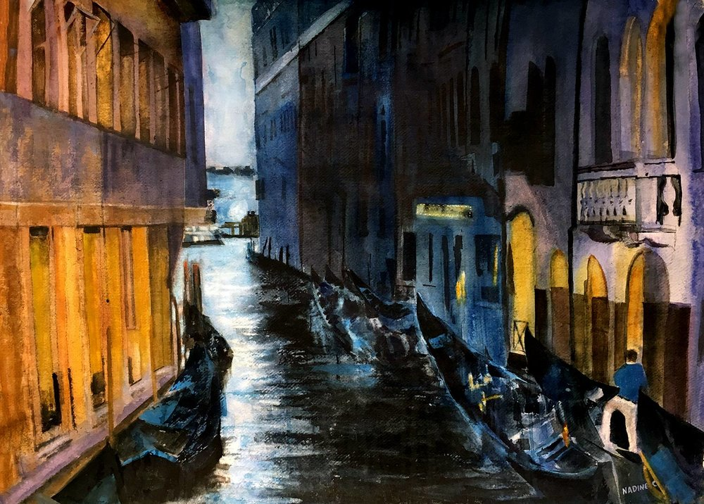 NIGHT STREET IN VENEZIA
