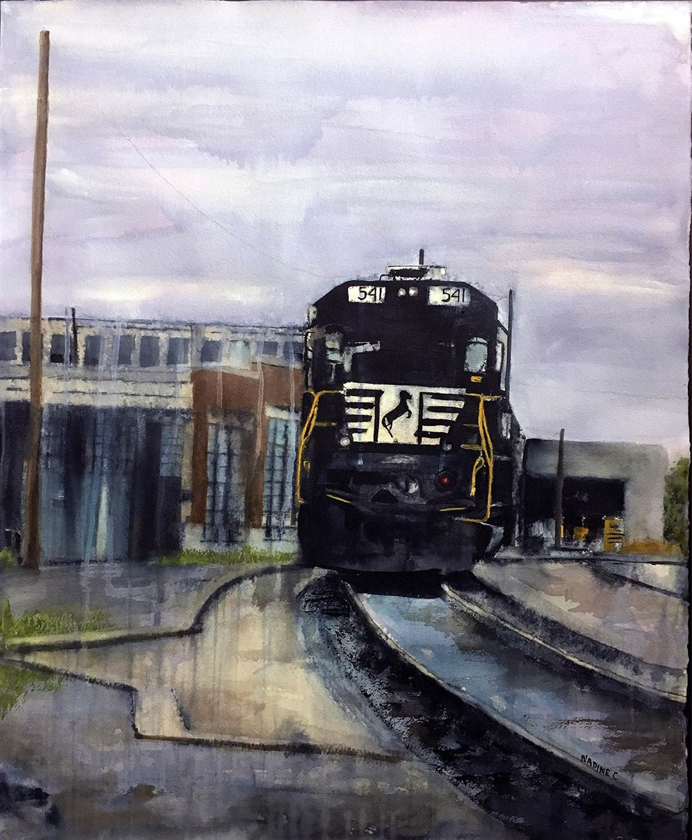 TRAIN IN THE YARDS