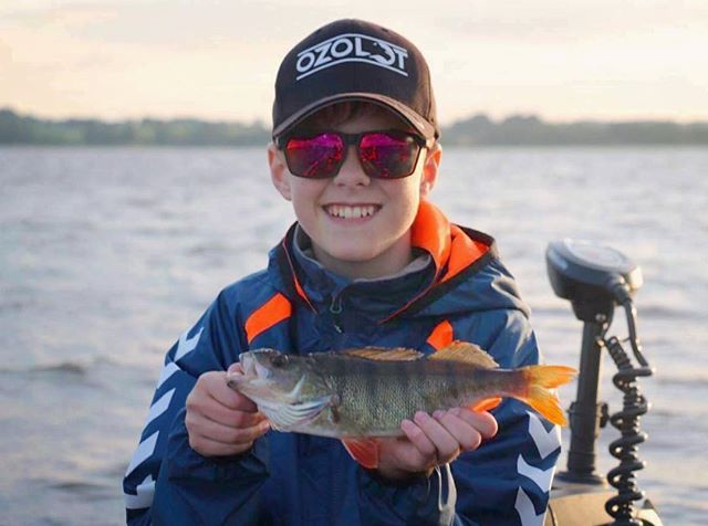 A proud Oliver with a nice perch! 👏🏼🐟😎 #TrueHappiness #FuturePRO