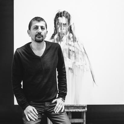 Saïd Atek, artiste plasticien rouennais.