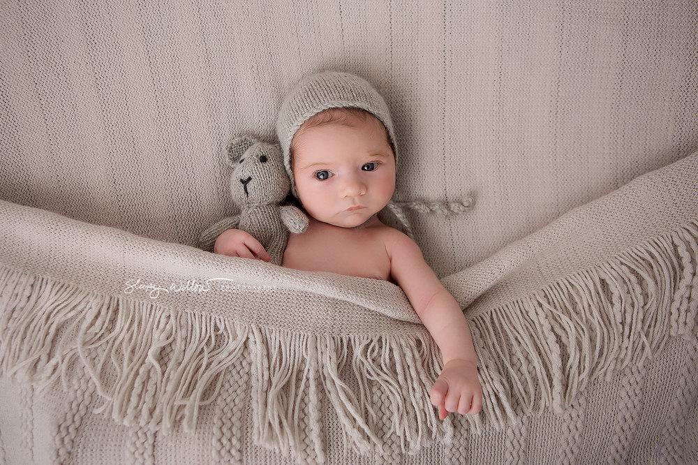 Sleepy willow newborn photography baby family girl love melbourne grey bonnet bunny mobile awake croydon