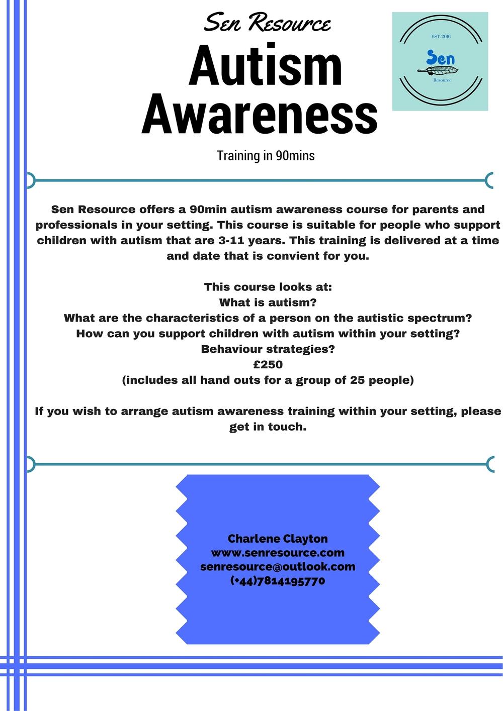 Sen Resource training autism awareness