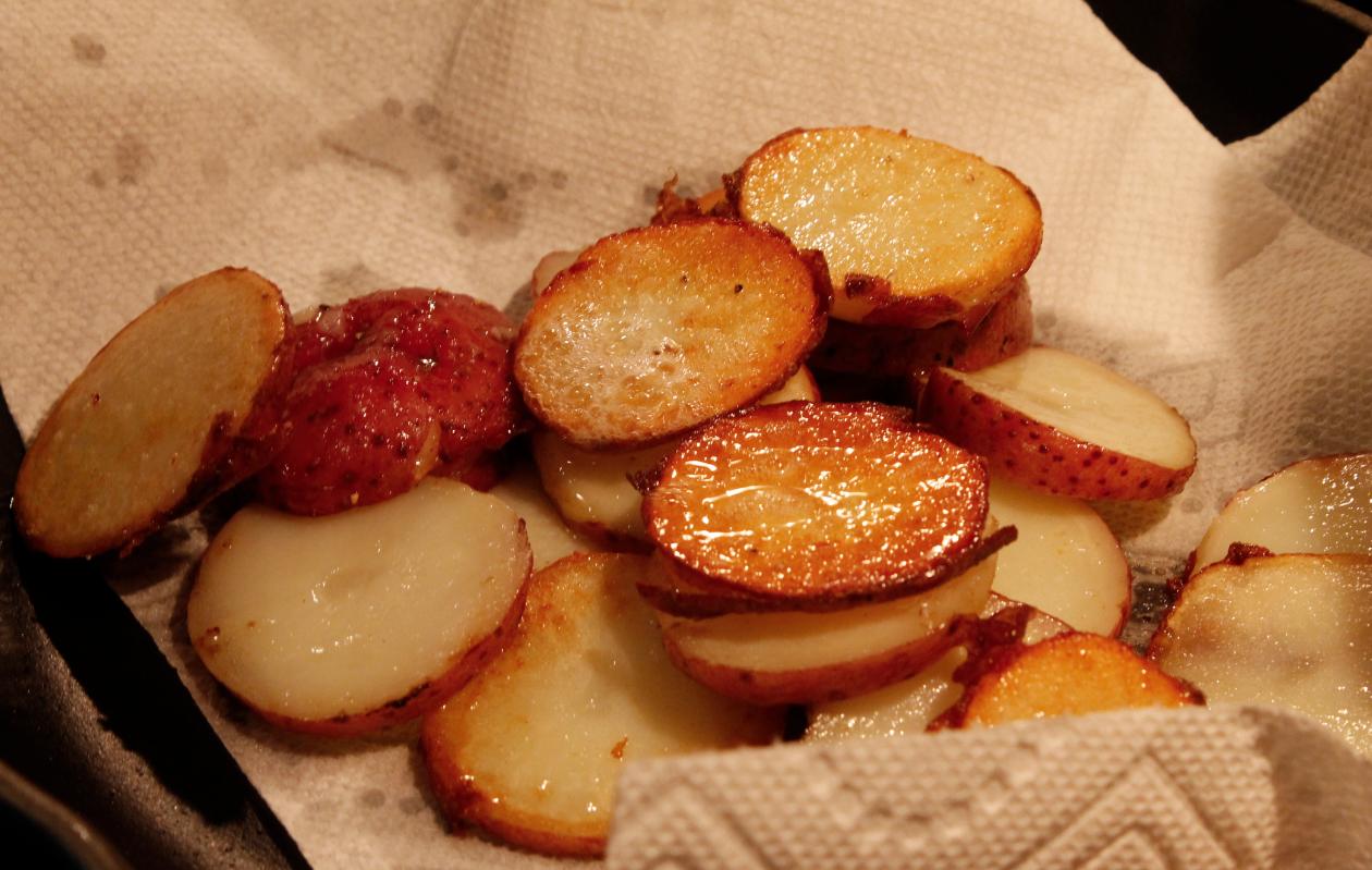 potatoes cooling off