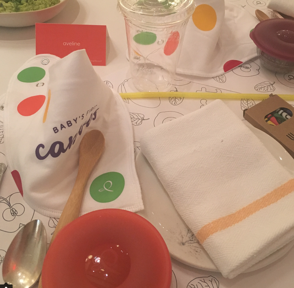 Avvie's place setting at a recent N+S event.