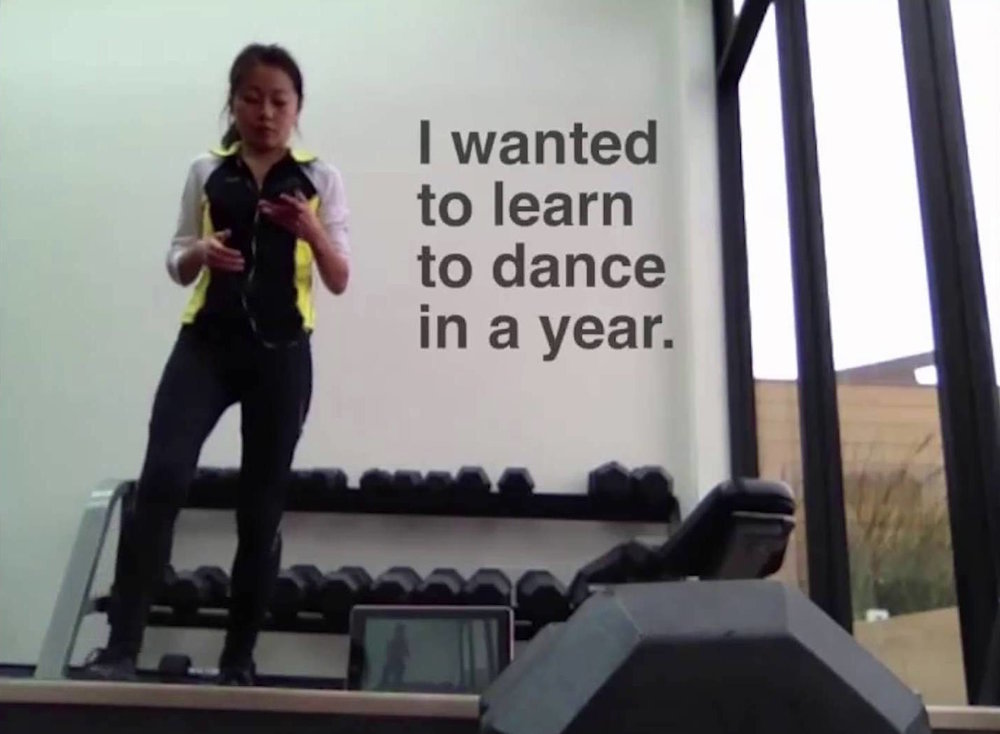 Karen X Cheng recorded herself  learning how to dance  every day for a year. Her  time lapse  video shows just how awkward she was at the beginning.
