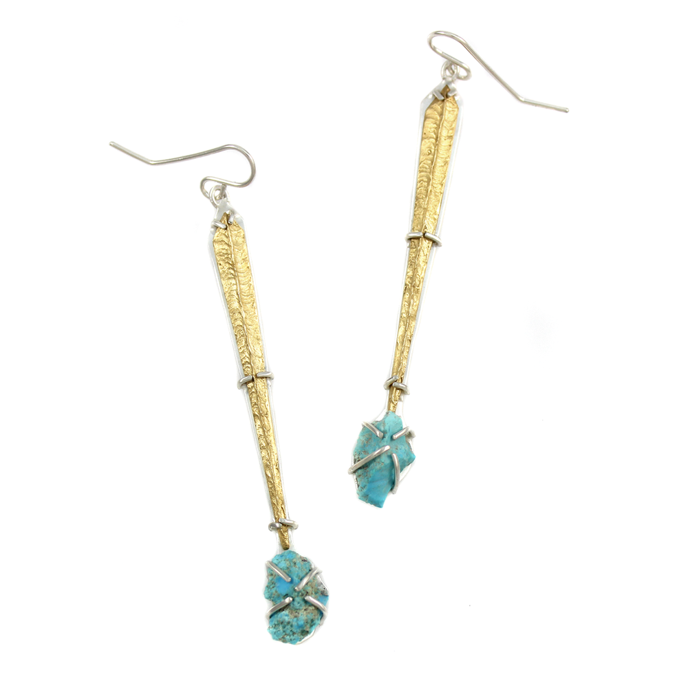 One-of-a-Kind Turquoise Dangle Earrings