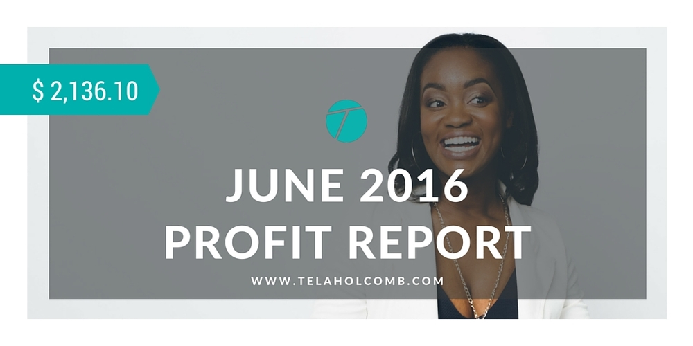 June 2016 Profit Report from trading and investing in the stock market