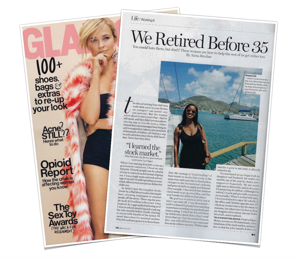 Featured in Glamour. Click to read.