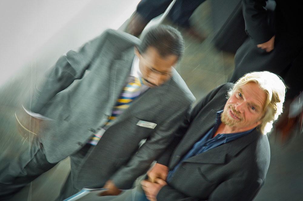Richard Branson opens the new £21 million pound Derby University, Art, Tehchnology and Design building Derby UK