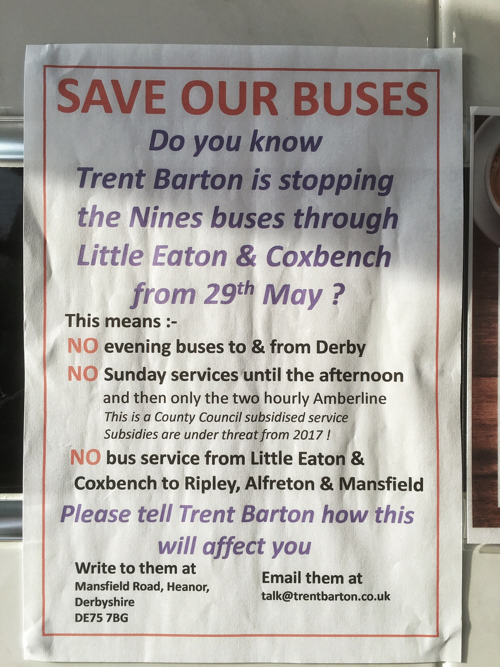 Save Our Busses