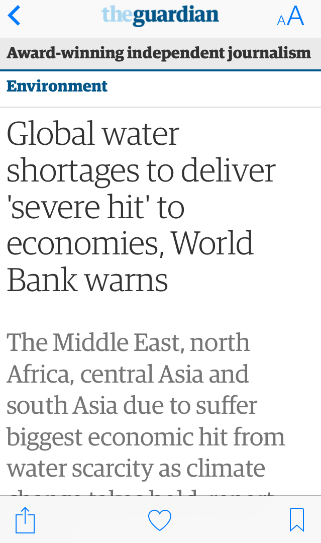 Global Water Shortages