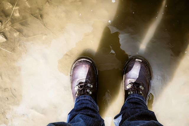 Rogue RB5 Boots in a puddle