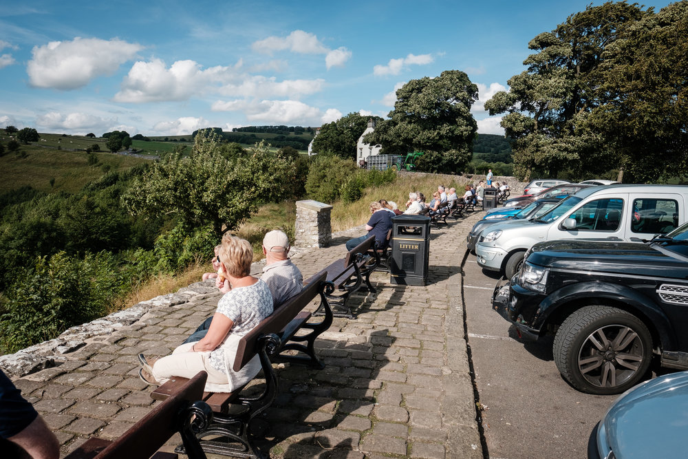 Tourists Looking at the view from Monsal Head in Derbyshire