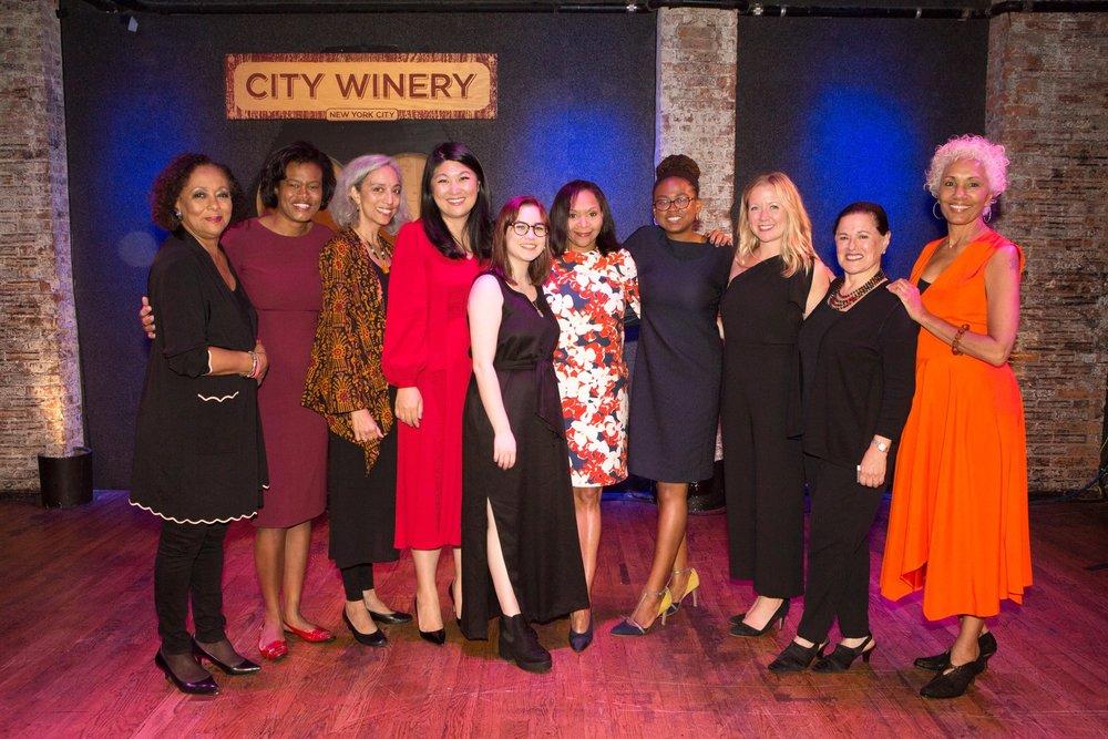 The 2018 Feminist Power Award honorees, presenters, and Gala Committee! Photo credit: Alexa Hoyer.