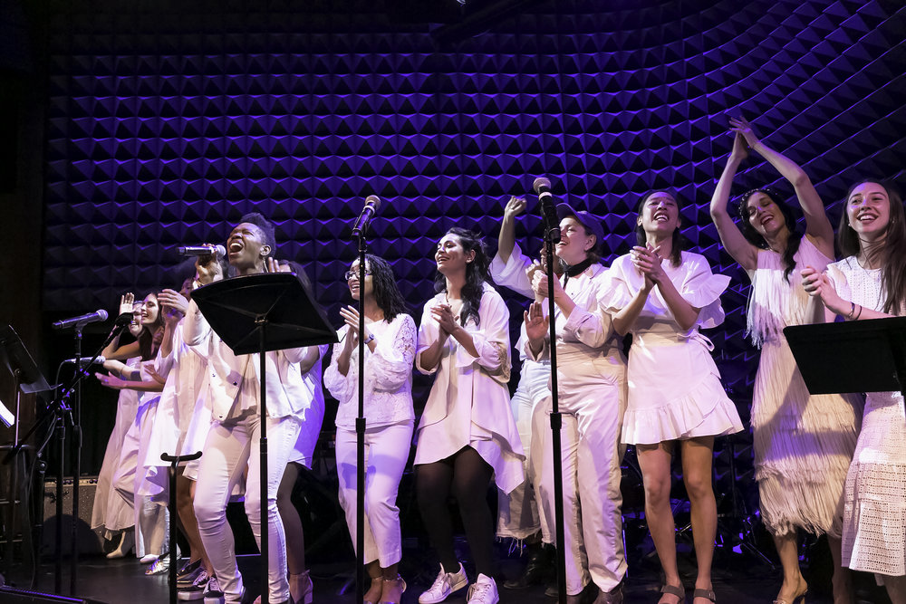 The Resistance Revival Chorus performs at Jazz for Gender Justice. Photo credit Sarah Marie Mayo.