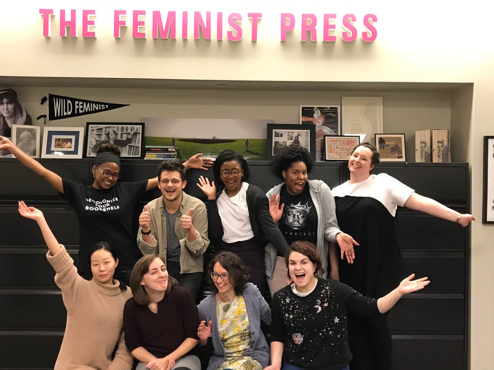 The Feminist Press staff and interns celebrate another year of feminist publishing!