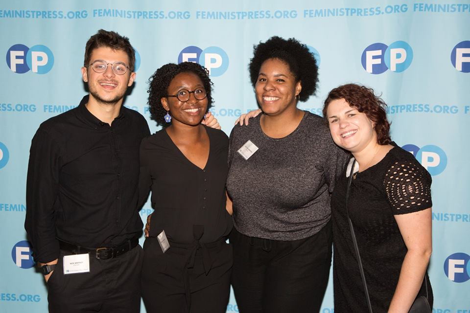 Our fall interns pose at the Feminist Power Awards.