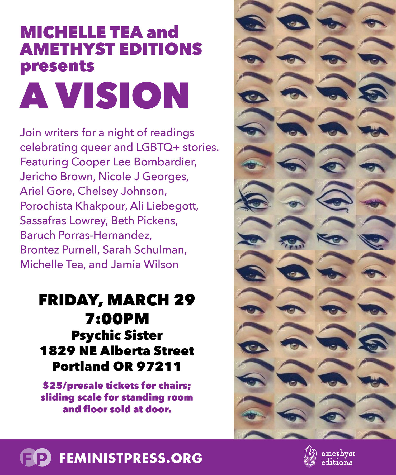 Michelle Tea and Amethyst Editions presents—A Vision