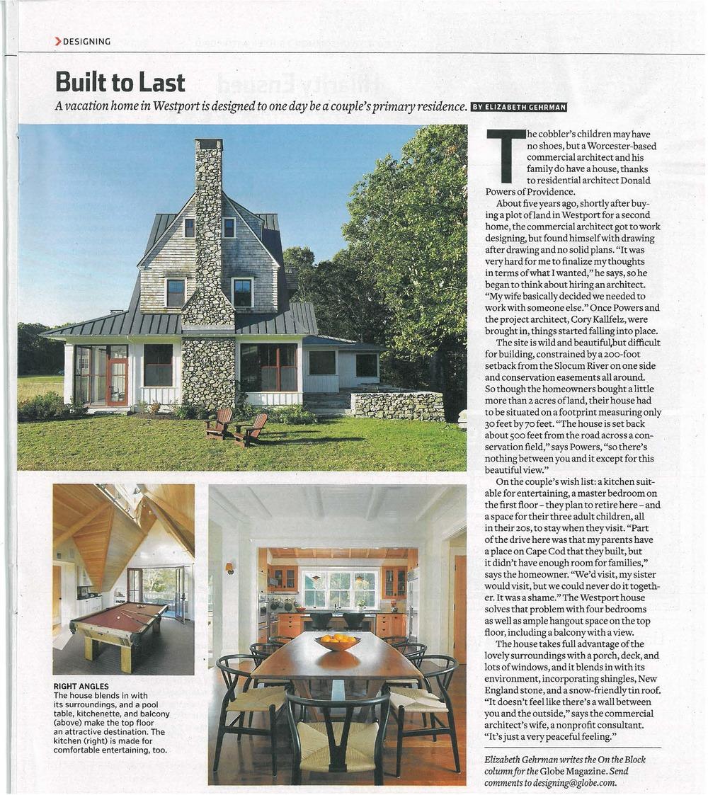 Bridge Hall Design Inc Boston Globe June 2010