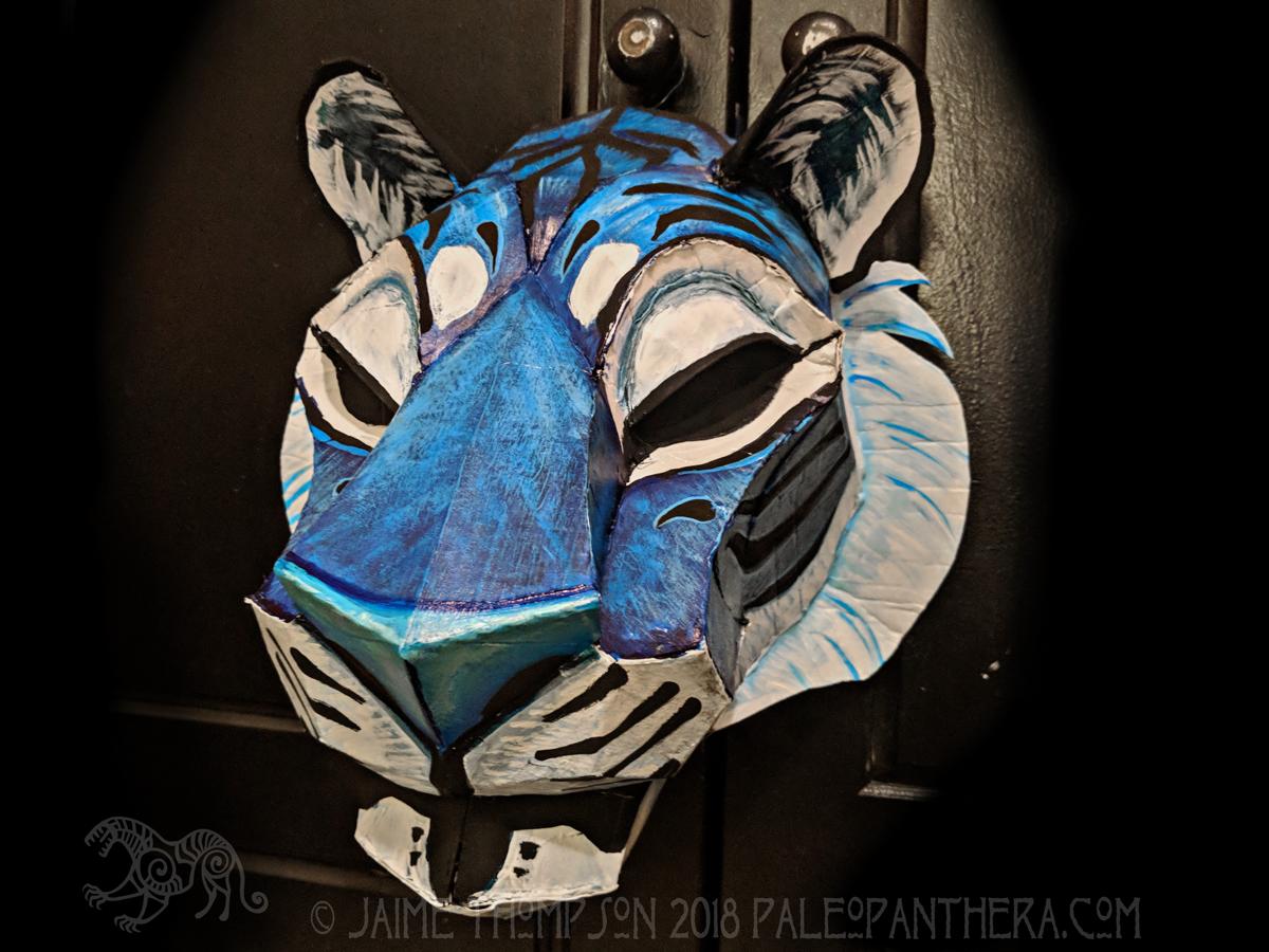 Big Cat Low Poly Mask Pattern — Paleo Panthera Studio & Foundry