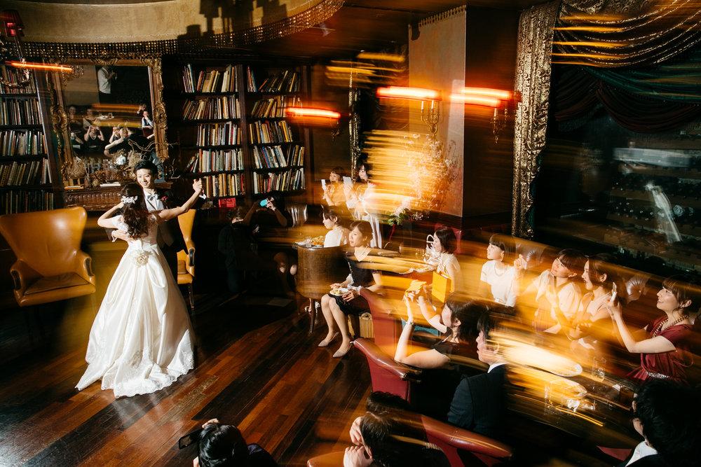 結婚式でのストロボライティング