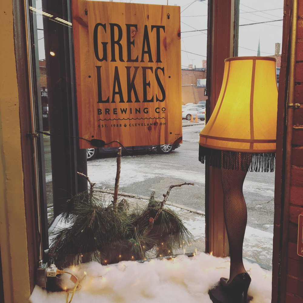 What could be more Cleveland-y than Great Lakes & a leg lamp from A Christmas Story?