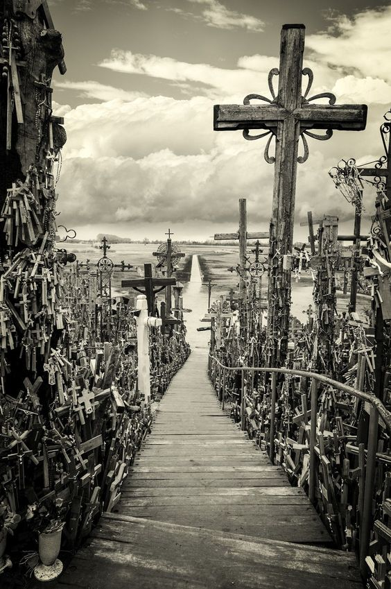 The Hill of Crosses contains more the 200,000 crosses in Lithuania.