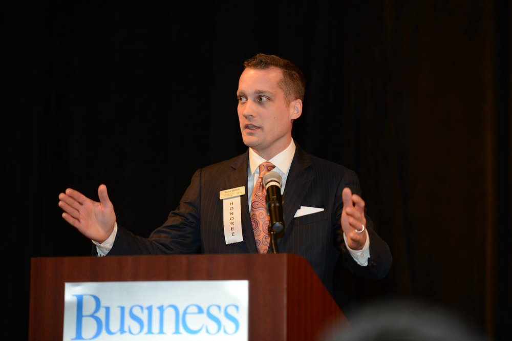 Speaking at 2015 Des Moines  Business Record  40 Under 40 event.