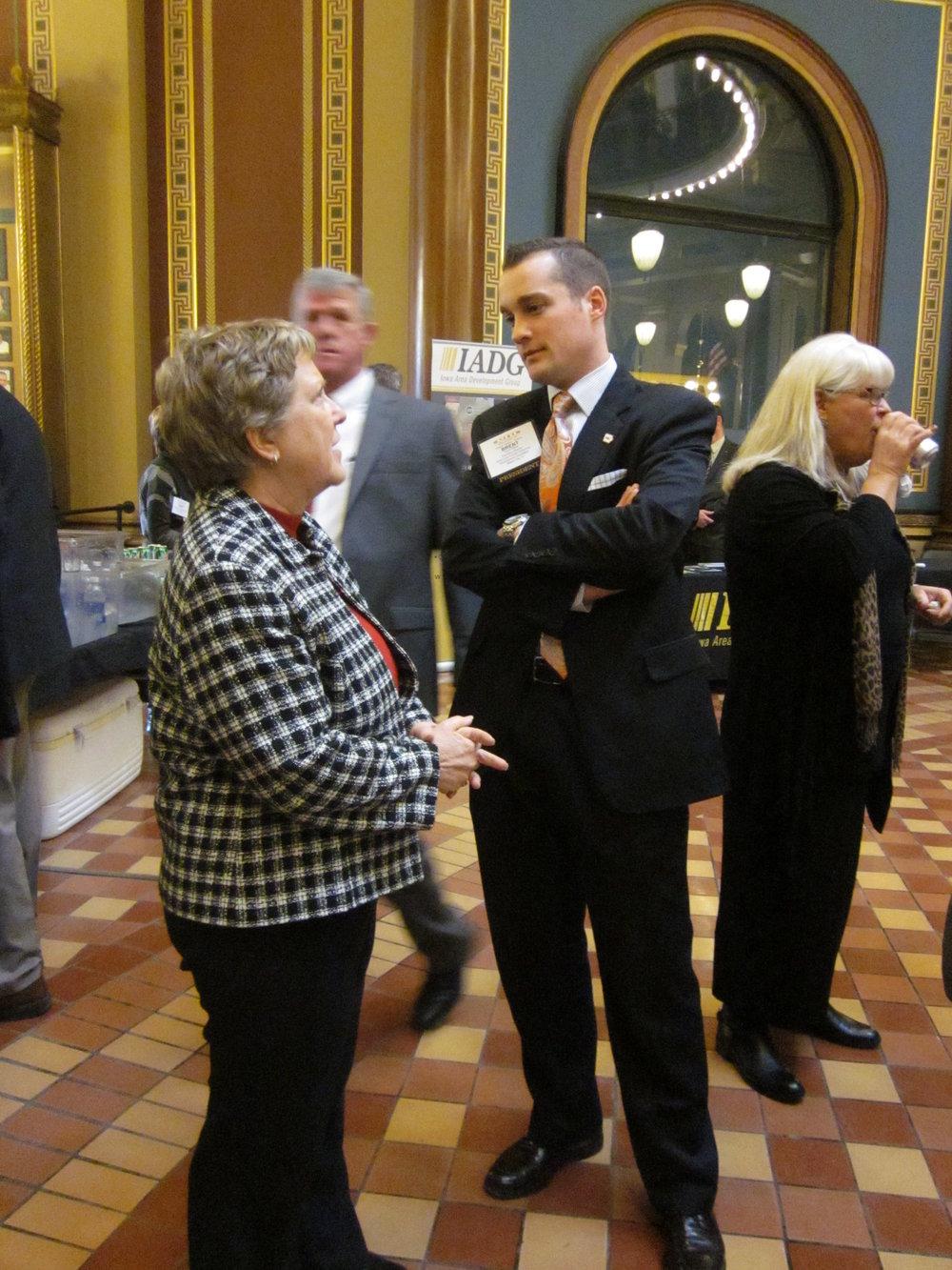 With Sen. Amanda Regan at Iowa State Capitol, 2013