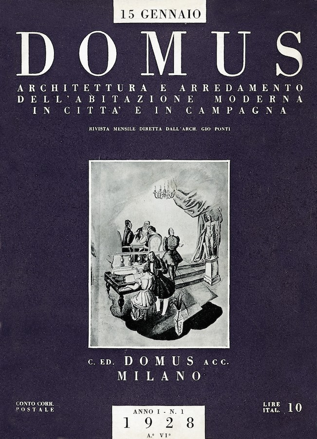 DOMUS, cover of the first issue, 15th January, 1928