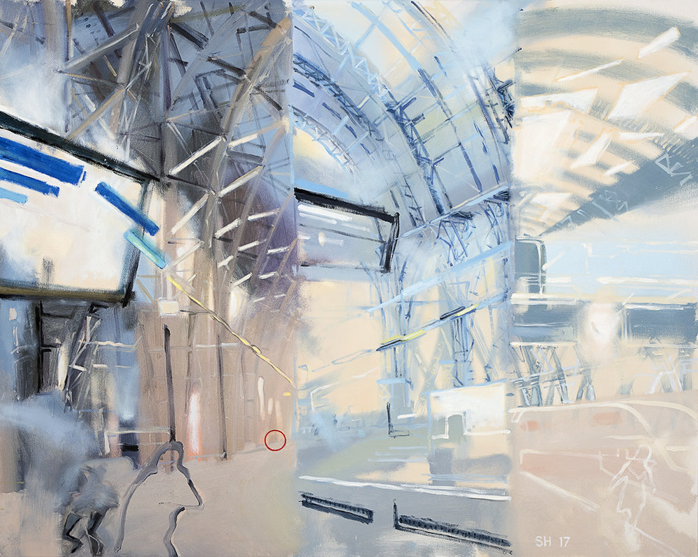 Frankfurt Station II, oil on canvas, 80x1000cm, 2017,