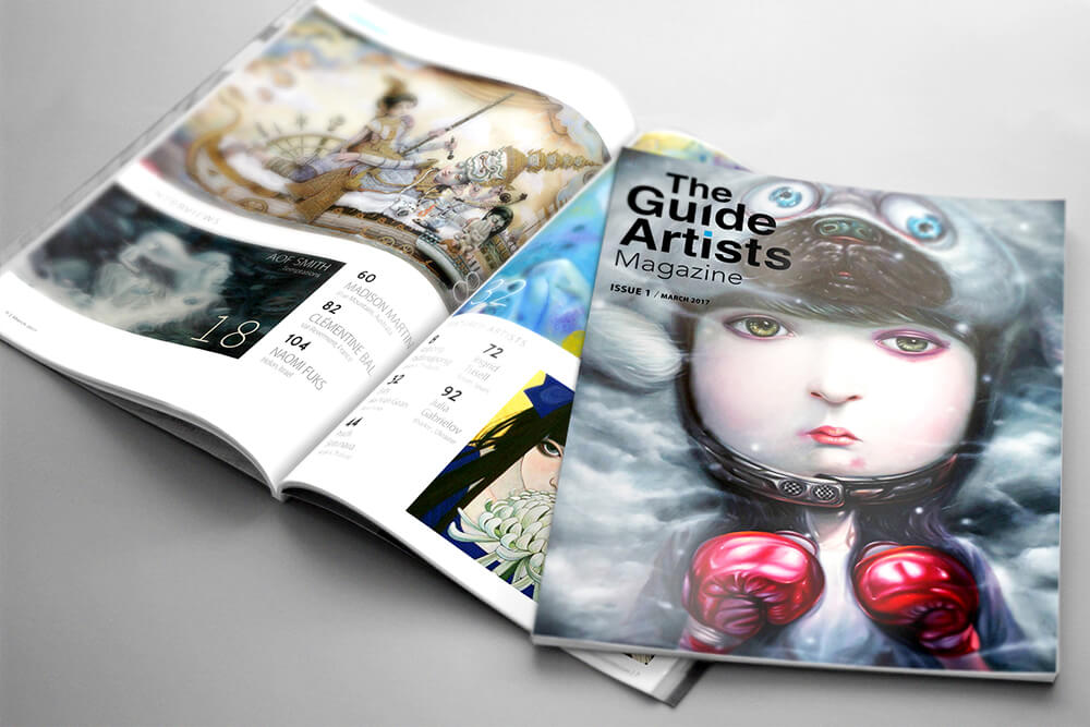 The Guide Artists Magazine / Issue 1 / March 2017 Cover: Aof Smith