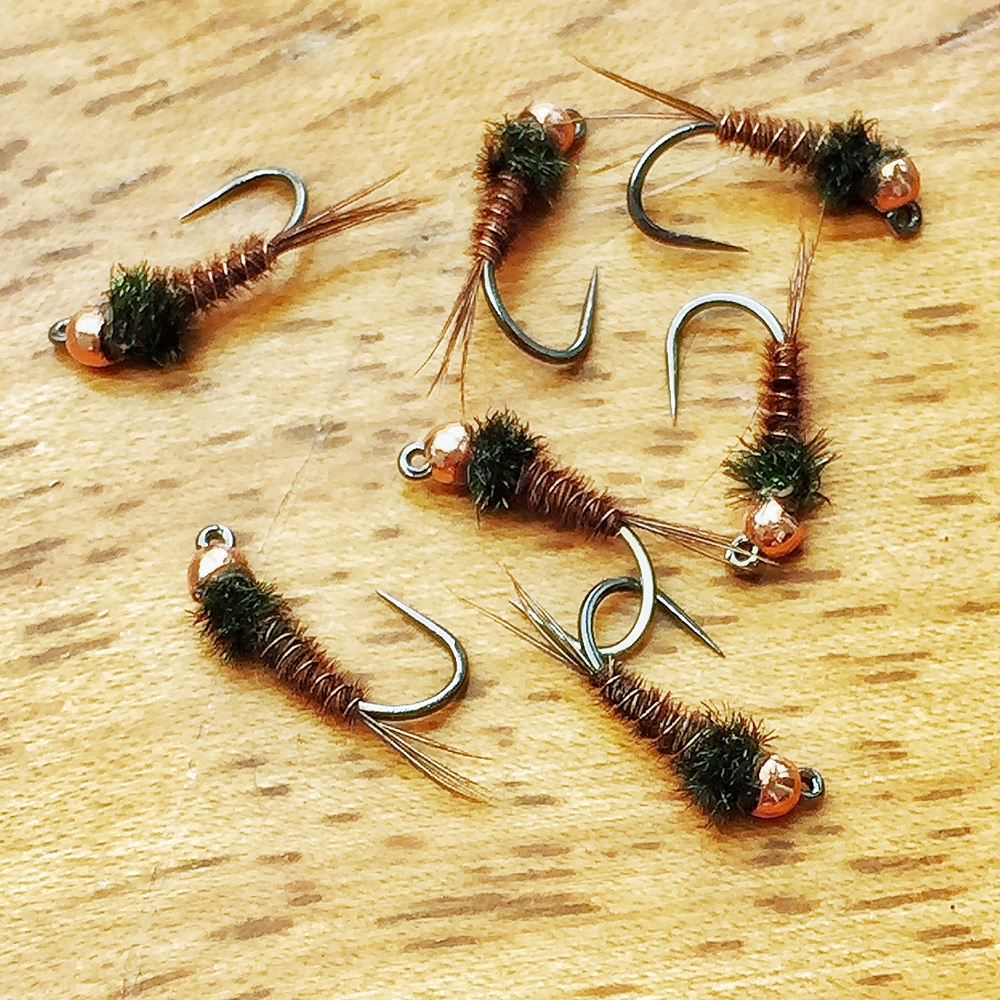 Simplified Pheasant Tail Nymphs mimic mayfly nymphs very well and may even be taken for other food items.