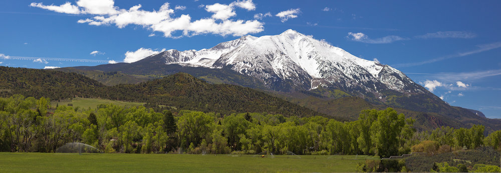 Future water for the lower Roaring Fork River is stored on Mt. Sopris. It will not take long for this snow to melt and fill the lower river with a vital flush of water to scour the river bed clean allowing for a healthy benthic macroinvertebrate habitat.