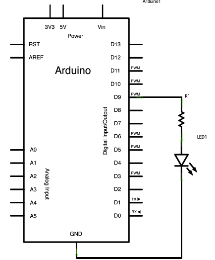 from  Arduino examples  (does not include magnetic switch)