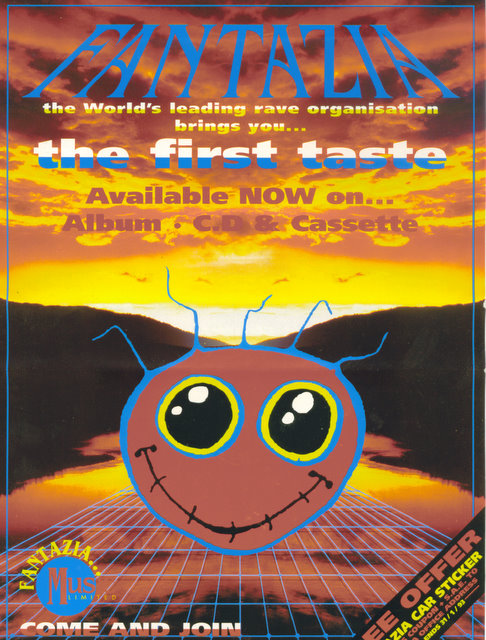 early 90s UK rave flyer
