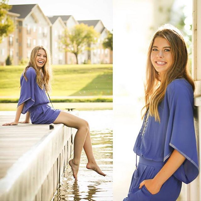 """""""Sittin' on the dock of the bay""""....being all gorgeous during her senior shoot!  Miss Abby, I just finished editing your session; I'll see you very soon for your image reveal!"""