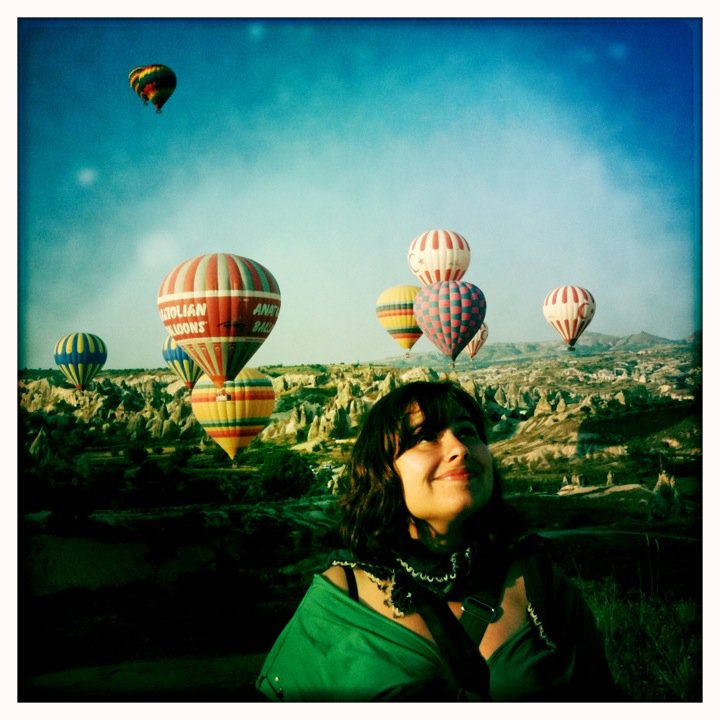 Smiling at sunrise in Cappadocia, Turkey